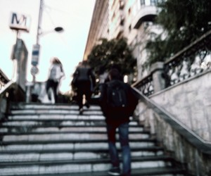 city, grunge, and steps image