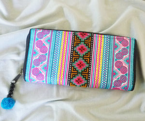 etsy, hill tribe, and tribal wallet image