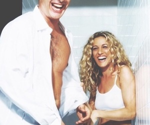 sex and the city, couple, and Carrie Bradshaw image