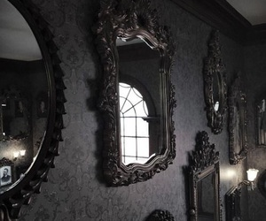 mirror, dark, and gothic image