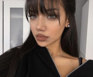 girl, bangs, and beauty image