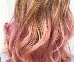 autumn, pink, and ombre image