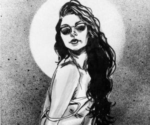 art, art work, and black and white image