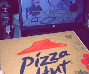 movie, pizza, and pizza hut image
