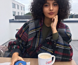 coffee, cookie monster, and curly hair image