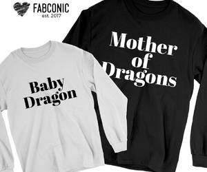 etsy, mother and baby, and mother of dragons image