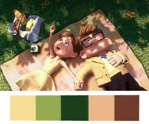 carl, colours, and disney image