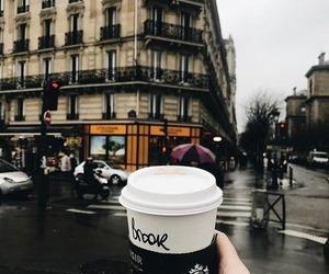 city, coffee, and starbucks image