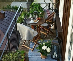 architecture, pflanzen, and balkon image