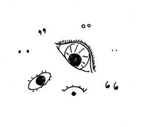 eyes, art, and doodles image