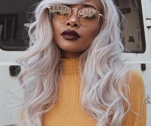fashion, makeup, and glasses image