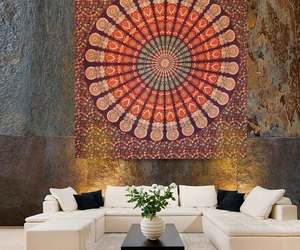 indian wall hanging, hippie wall hanging, and round mandala tapestries image