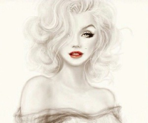 blonde and drawing image