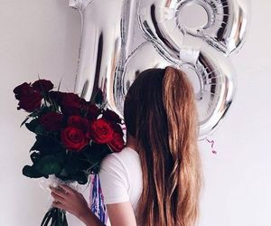 18, balloons, and beauty image