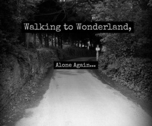 wonderland, alone, and quotes image