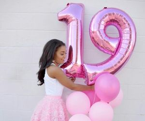 19, balloons, and beauty image