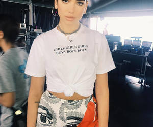 dua lipa and outfit image