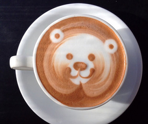 coffee, bear, and drink image