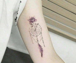 tattoo, flower, and rose image