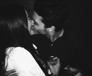 couple, grunge, and kiss image