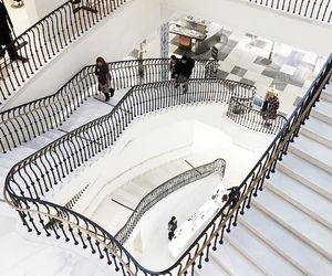 white, stairs, and place image