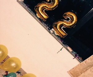 balloons, birthday party, and happy birthday image