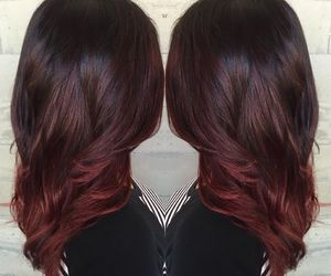 dark hair, highlights, and red hair image