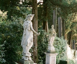 nature, green, and statue image