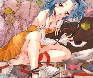 anime girl, levy mcgarden, and fanart image