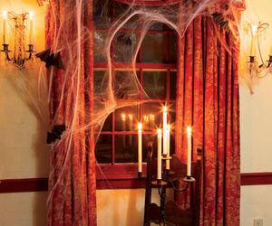 Halloween, decoration, and window image