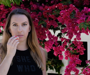 blogger, flowers, and lip balm image