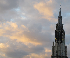 church, clouds, and cloudy sky image