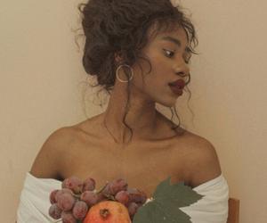 girl, aesthetic, and fruit image