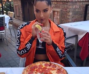 girl and pizza girl image