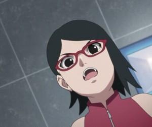 anime, sarada uchiha, and boruto image
