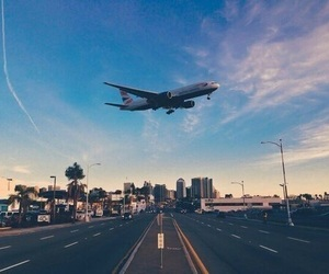 travel, airplane, and world image