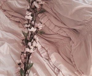 flowers, aesthetic, and peach image