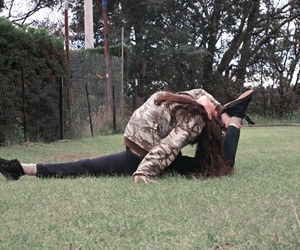 fit, flexible, and girl image