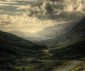 nature, road, and scotland image