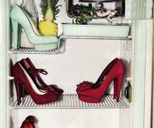 shoes, fridge, and cake image