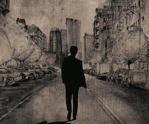 500 Days of Summer, black and white, and sad image