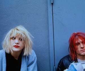 kurt cobain, Courtney Love, and nirvana image