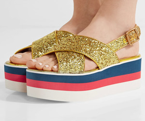 fashion, sandals, and glittering image
