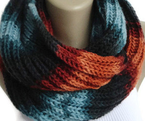 scarf, chunky scarf, and knit scarf image