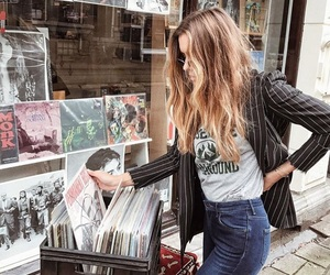 girl and vinyl image
