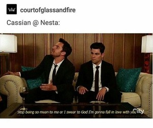 cassian, a court of mist and fury, and nesta image