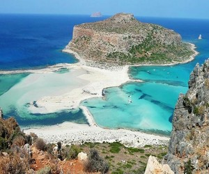 beach, coast, and crete image