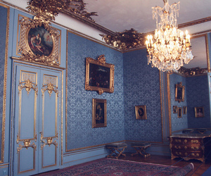 blue, vintage, and room image