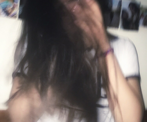 blurry and brunette image