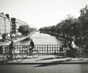 amsterdam, bike, and black and white image